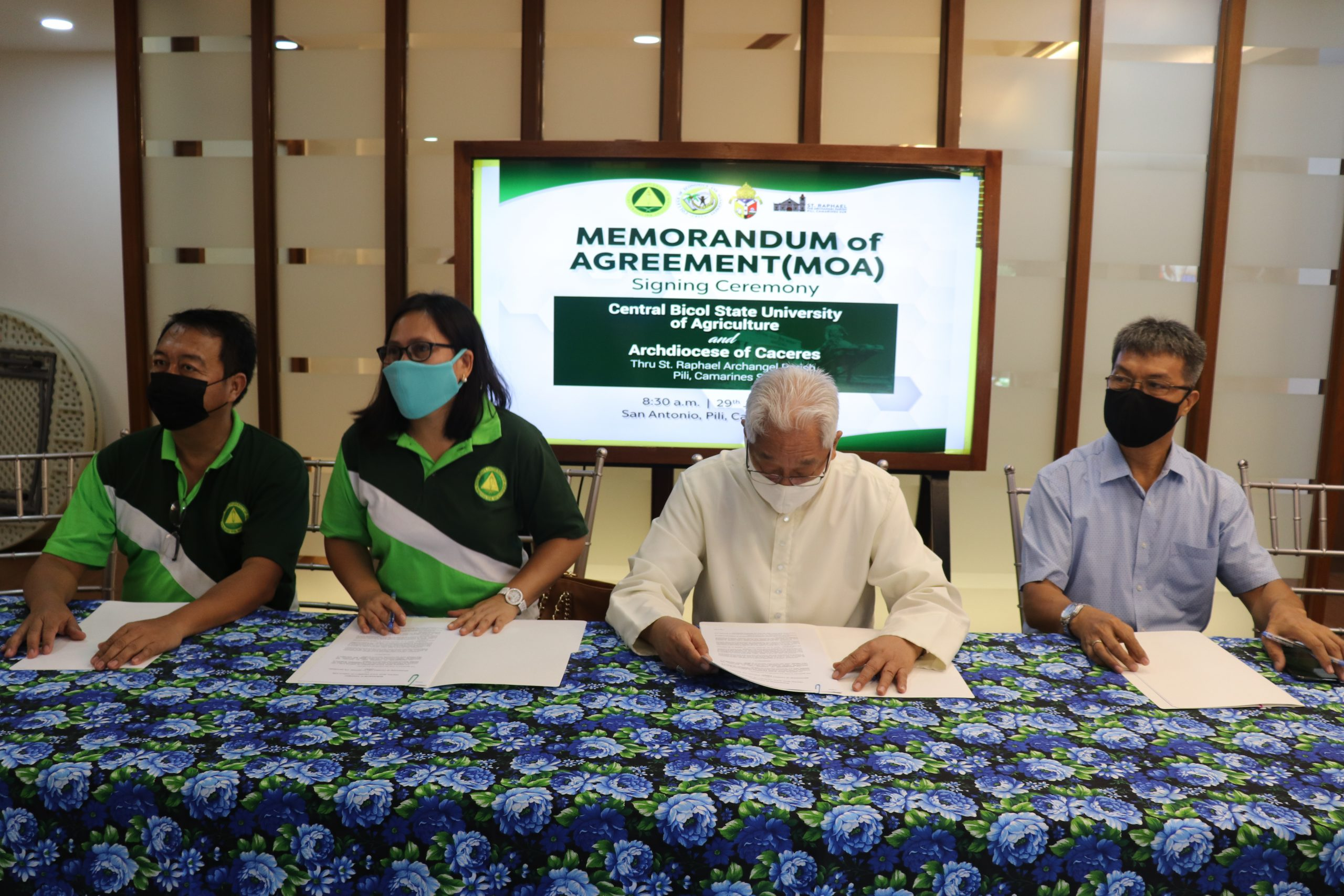 Memorandum of Agreement between CBSUA and Archdiocese of Caceres