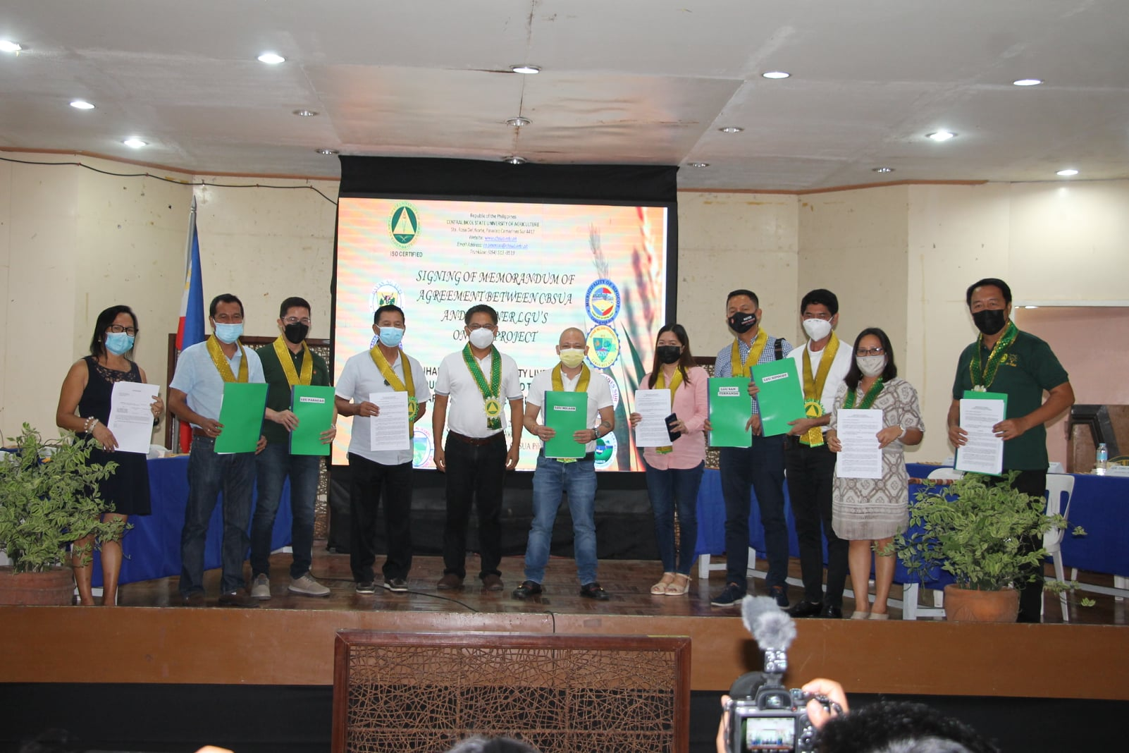 Collaboration between Central Bicol State University of Agriculture and Ten LGUs in Camarines Sur