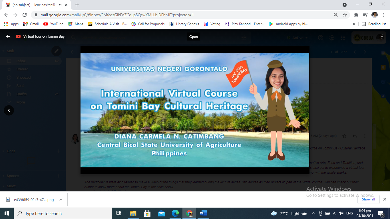 CVM students represent Philippines in the international virtual heritage course